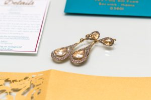 Invitation Gold Teal Maroon Ivory wedding Invite laser cut gate folds