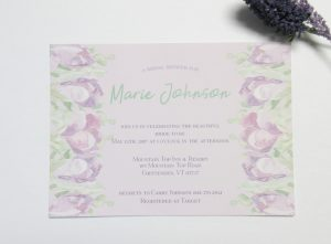 Tulip watercolor custom bridal shower invitation