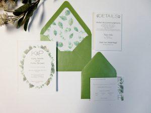 Wedding Invite Invitation Watercolor grennery