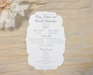 Wedding Program Die Cut Shape