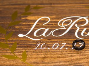 wood Wedding Guest Board Book