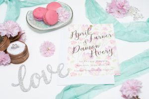 Save the Date - Vellum, sheer overlay printed background