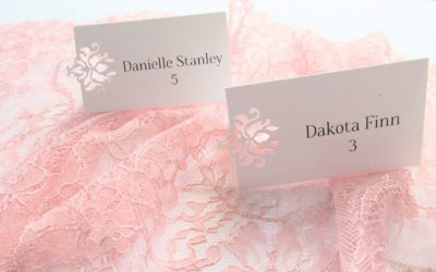Laser Die Cut escort place cards