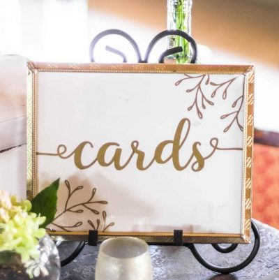 Wedding Card Sign