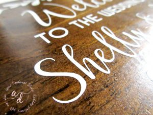 small wood wedding welcome sign