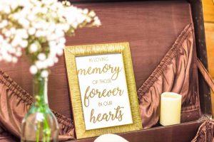 loved ones wedding sign