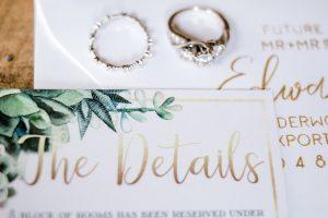 succulent wedding invitation suite
