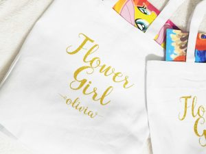 flower girl bag and tote