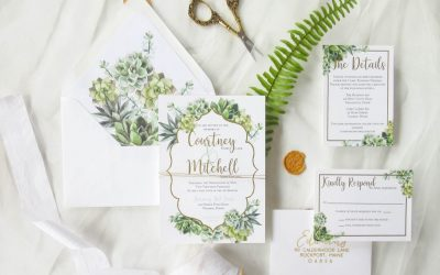 succulant wedding invitations
