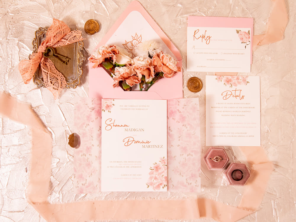 why invitations are important - rose gold wedding invitations