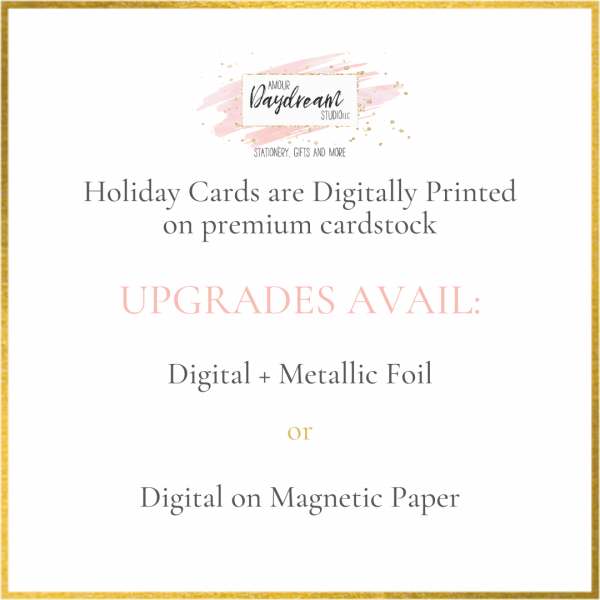 holiday cards - foil and magnet
