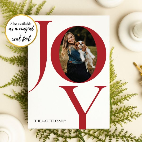Joy Holiday Photo Christmas Card