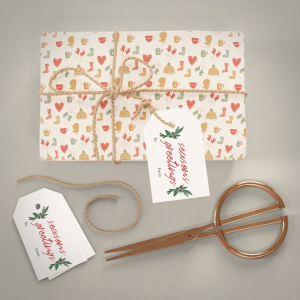 season greetings holiday gift tag