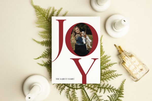 Joy Holiday Photo Christmas Card