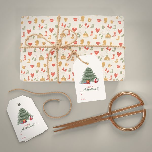 christmas tree holiday gift tag