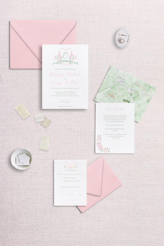 watercolor wedding crest wedding full wedding suite