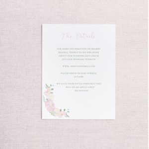 watercolor wedding crest wedding detail card