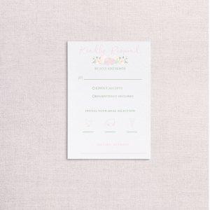 watercolor wedding crest wedding rsvp card
