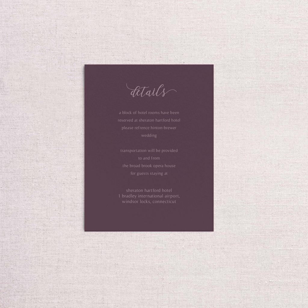 Watercolor floral venue illustration wedding invitationdetail card