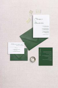 Modern simple minimalist wedding invitation