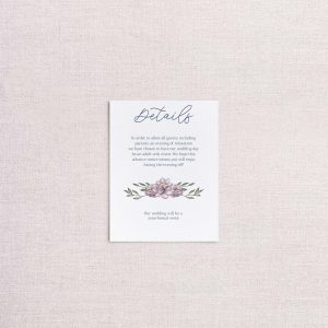 sketchy florals wedding invitations blue and pink detail