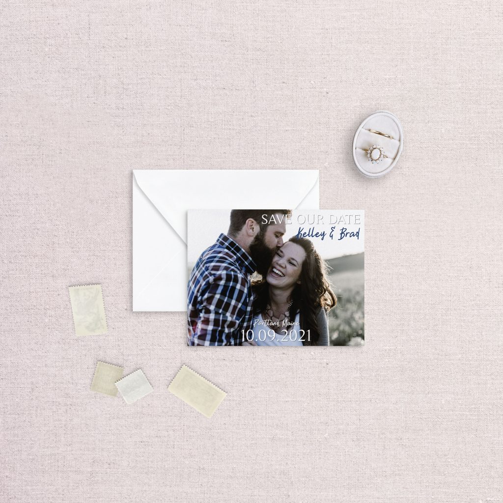 classic save the date with photo