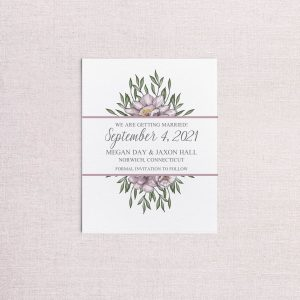 sketchy floral save the date non-photo