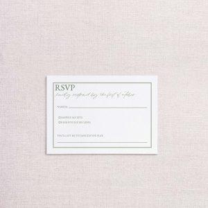 simple monogram wedding invitation replt card