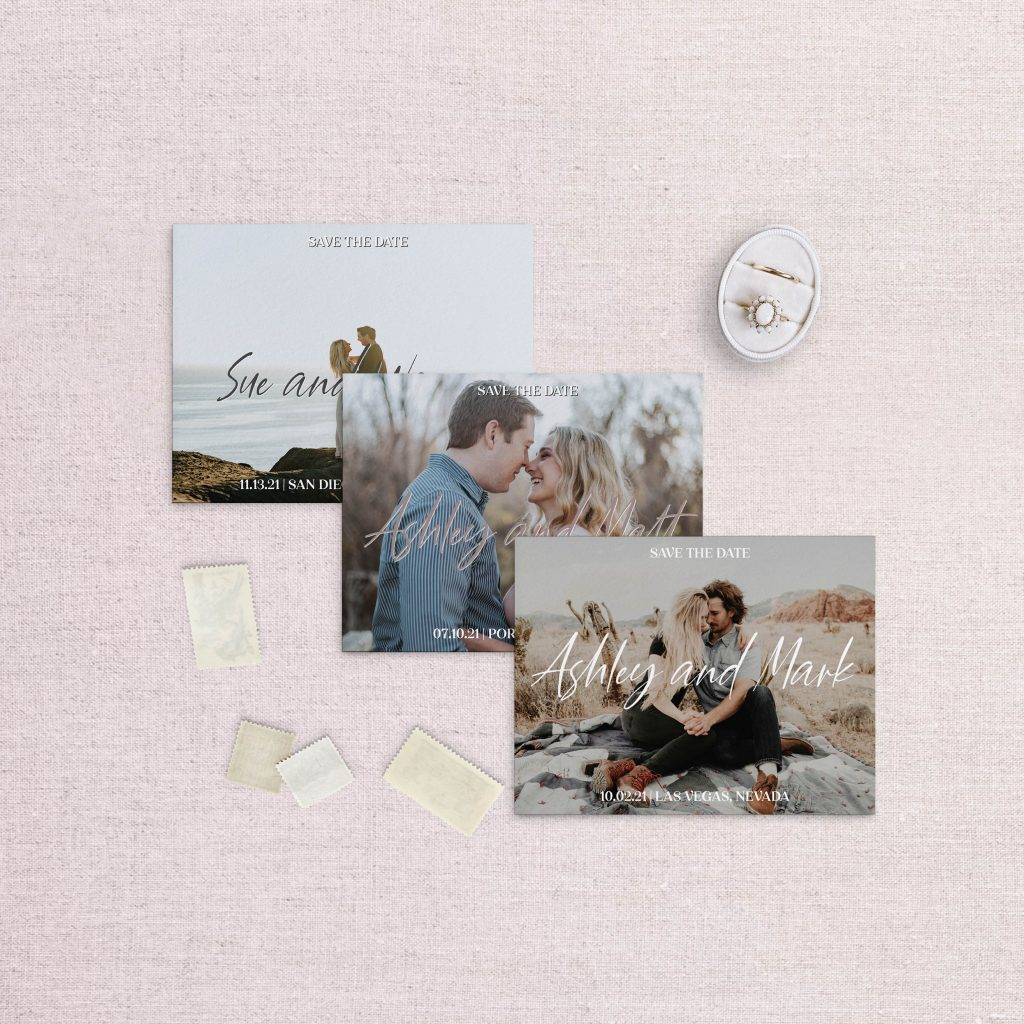 sweet love photo save the date calligraphy