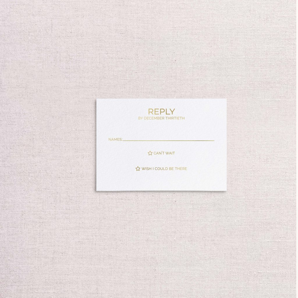 zodiac wedding invitations gold rsvp reply card