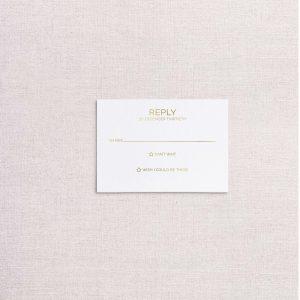 zodiac wedding invitations gold rsvp reply card